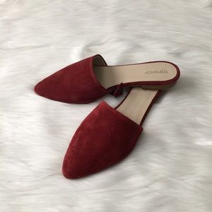 NEW TOPSHOP Slip-on Burgundy Flats Size 7